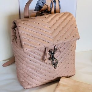 Rebecca Minkoff quilted leather backpack!